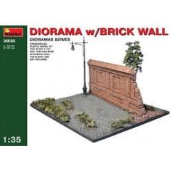 MINIART Diorama W/Brick Wall