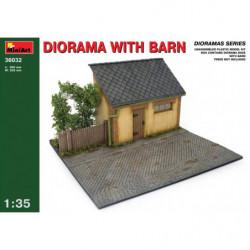 MINIART DIORAMA W/BARN