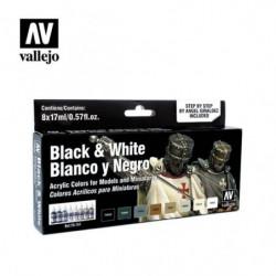 VALLEJO MODEL COLOR Black &...
