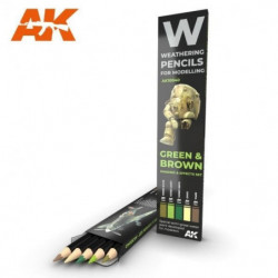 AK PENCIL Green and Brown...