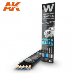 AK PENCIL Grey and Blue...