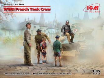 ICM WWII French Tank Crew