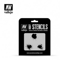 VALLEJO STENCIL Paint Stains