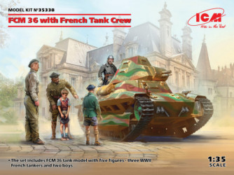 ICM FCM 36 with French Tank...