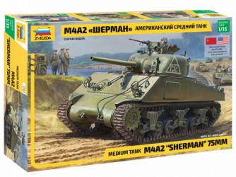 ZVEZDA M4A2 Sherman 75mm
