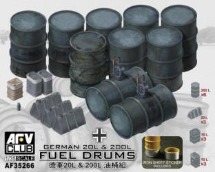 AFV CLUB German Fuel Drums...