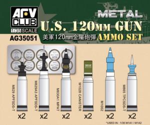 AFV CLUB U.S. 120mm Ammo Set