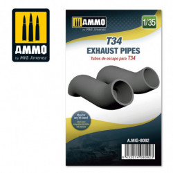 AMIG T34 Exhaust Pipes