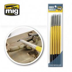 AMIG Rubber Brush Set