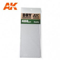 AK Dry Sandpaper 400 3 units
