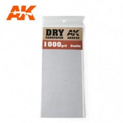 AK Dry Sandpaper 1000 3 units