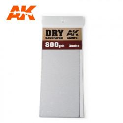 AK Dry Sandpaper 800 3 units