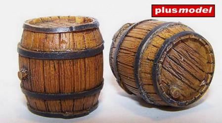 PLUS MODEL Wooden Barrel 3pcs.