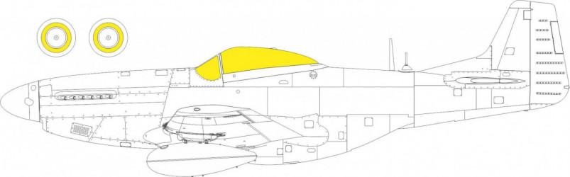 EDUARD MASK P-51K TFace