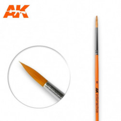 AK 8 Round Brush Syntetic